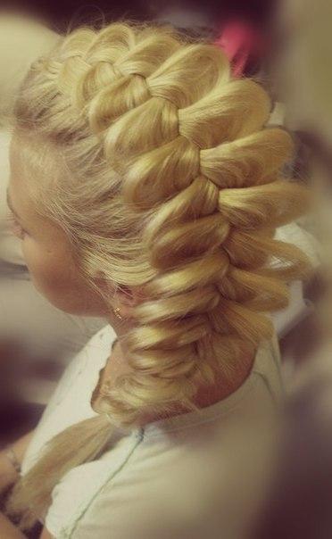 Как сделать прическу ажурная коса