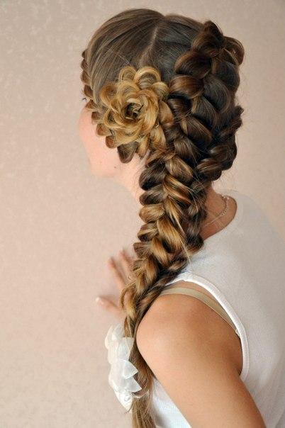 Красивые прически с косами на выпускной фото
