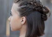 Вечерние косички на средние волосы