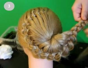 Ажурная коса с цветком