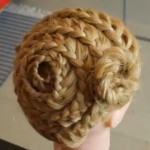 Ажурное плетение по всей голове
