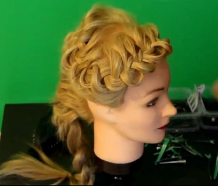 Объемная коса с ажурным плетением