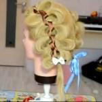 Однопрядная коса с лентой
