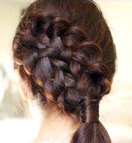 Ажурные косы на короткие волосы