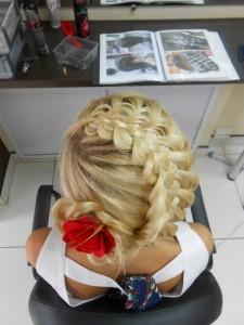 Ажурная коса на бок