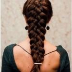 Французская коса из пяти прядей