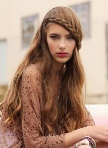 Французская коса с челкой