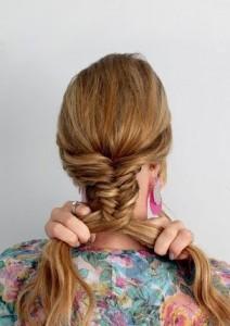 Пошаговое плетение косы рыбий хвост