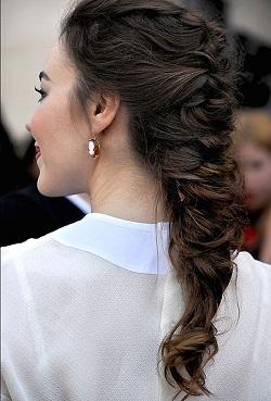 Растрепанная французская коса