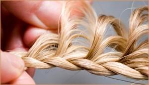 Схема плетения ажурной косы