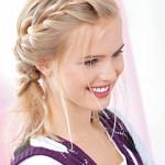Схема плетения косы колосок