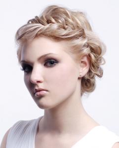 Греческие косы на короткие волосы