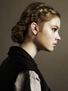 Греческие косы на средние волосы