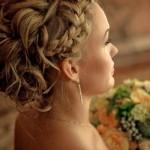 Свадебная греческая коса