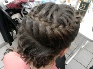 Французская коса зигзаг