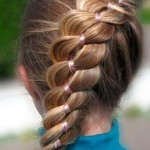 Объемная коса с лентой
