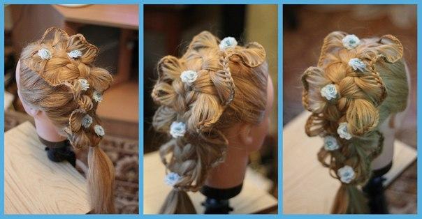 Плетение косы скат