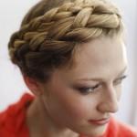 Плетение косы корзинка