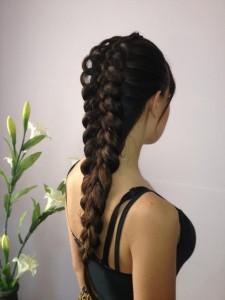 Ажурная коса из 5 прядей
