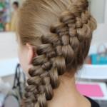 Плетение косы из 5 прядей