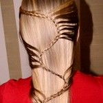 Плетение косы змейка