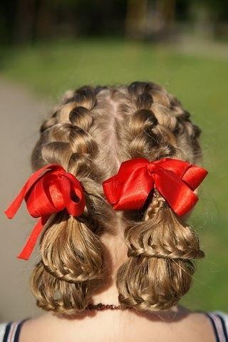 Красивые косы в школу