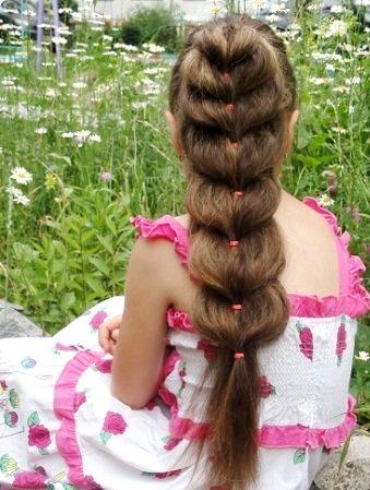 Быстрая коса в школу
