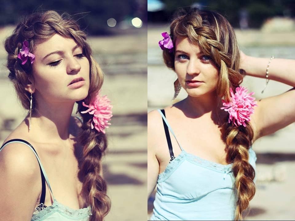 Длинная коса и её плетение