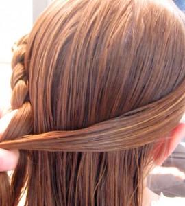 Прически с косами в школу