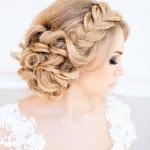 Свадебные прически с плетением кос