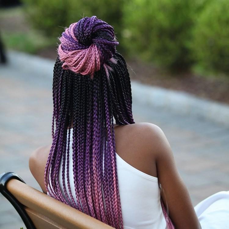 Африканские косички: фото с цветными волосами