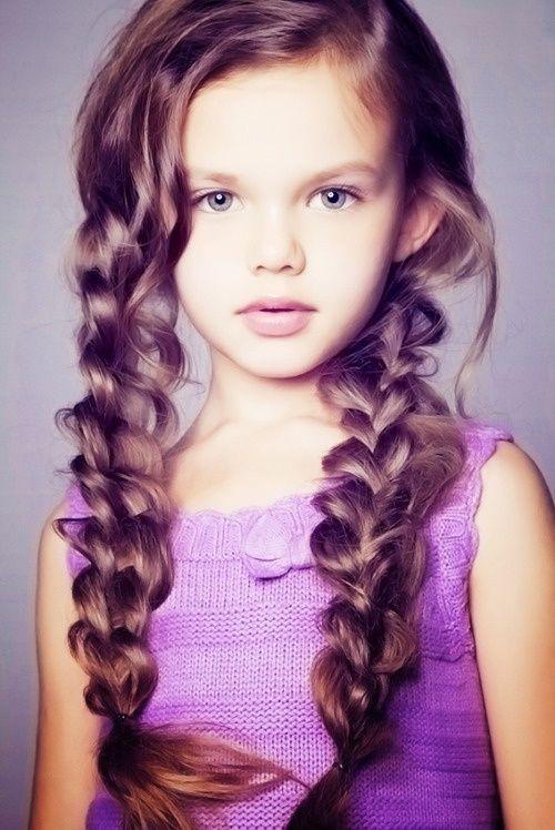 Детские косички - фото