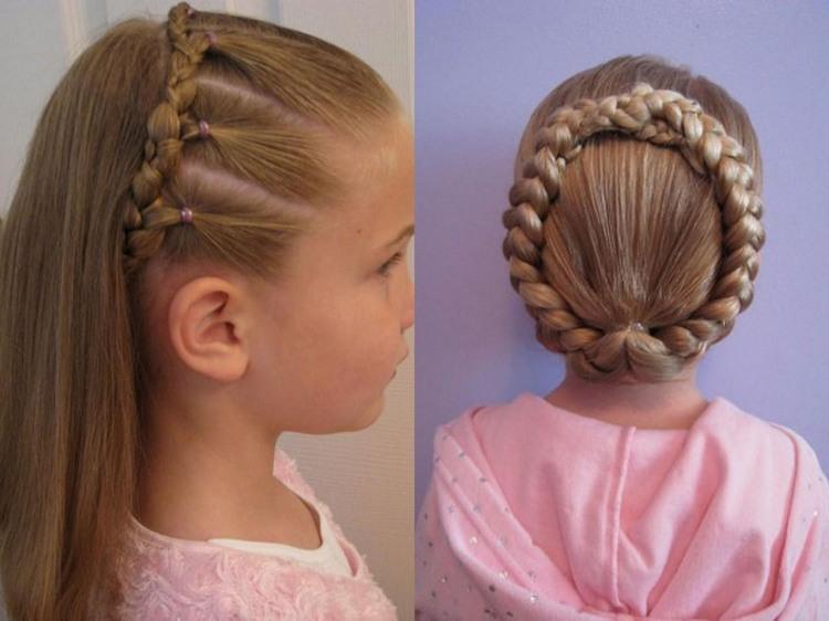 Детские косы на средние волосы