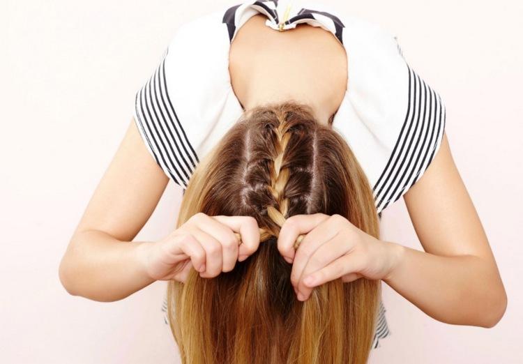 Голландские косички на средние волосы