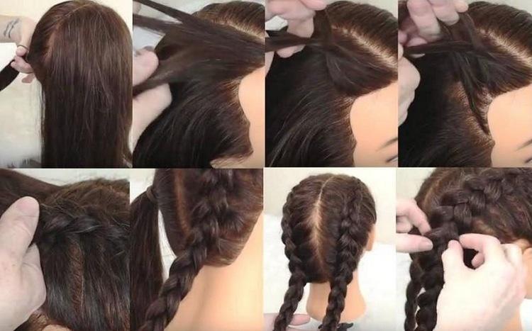 Испанская косичка на средние волосы