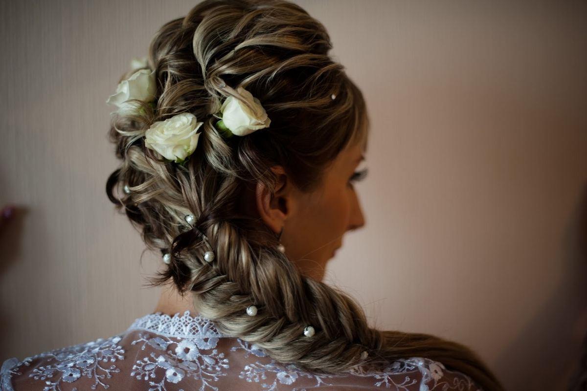 Как плести свадебные косы