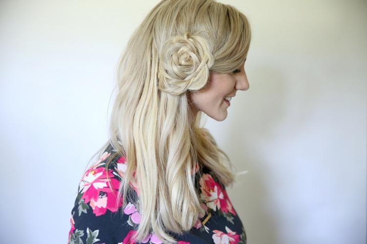 Как сделать цветок из косы