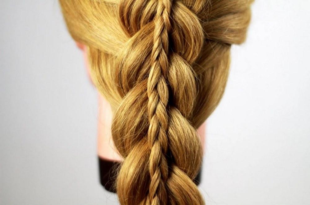 Как сделать двойную косу