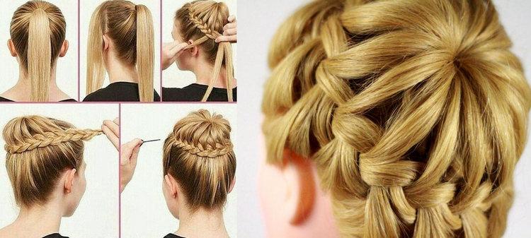 Как сделать причёску паутинку