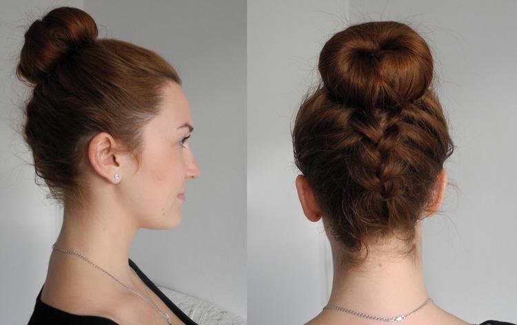 Как сделать пучок из косы
