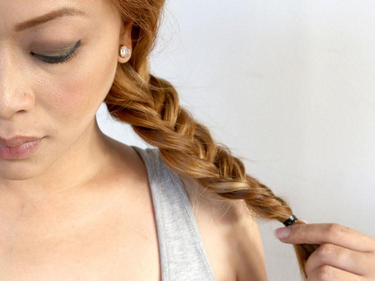 Как себе заплести красивую косу