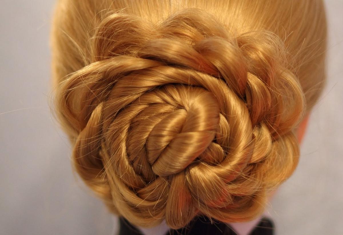 Как заплести косу цветок