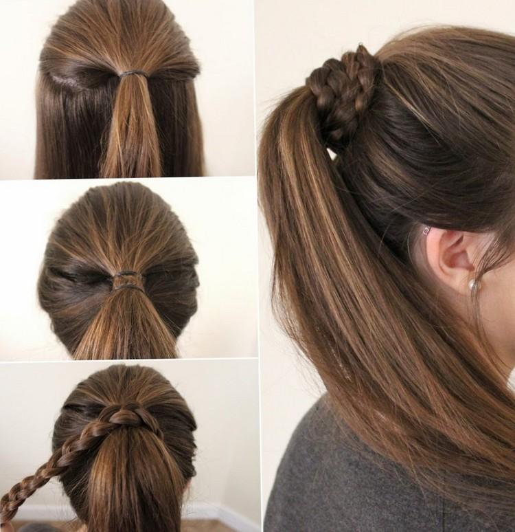Как заплести косу вокруг хвоста