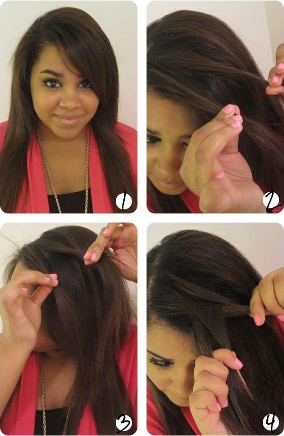 Как заплести самой себе косу водопад: видео и фото схема