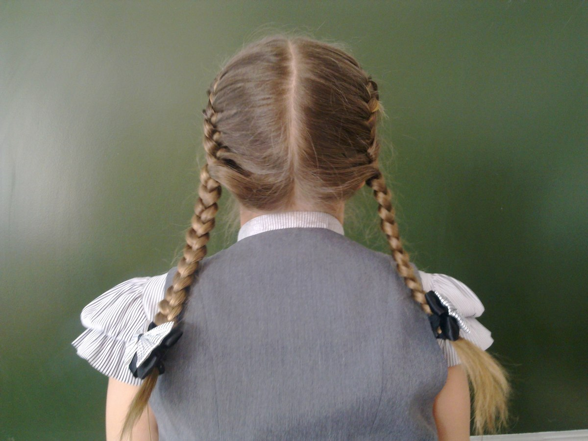 Какую косу заплести в школу