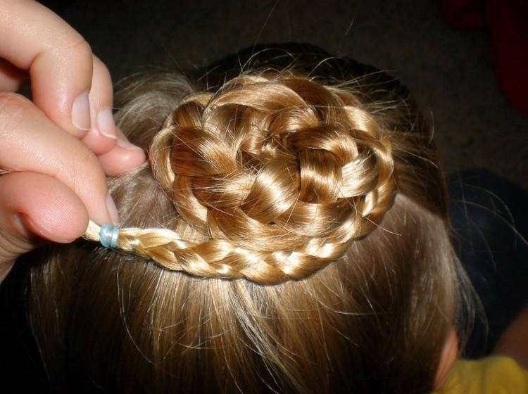 Как плести косу цветок