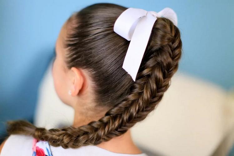 Коса хвост в школу для подростков