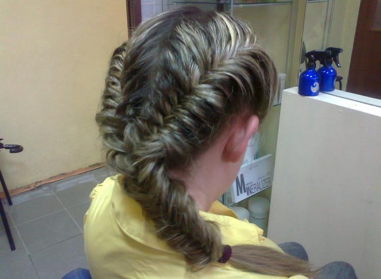 Коса из 2 косичек