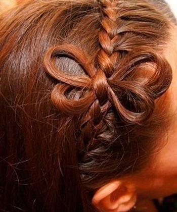 Коса ободок с бабочкой