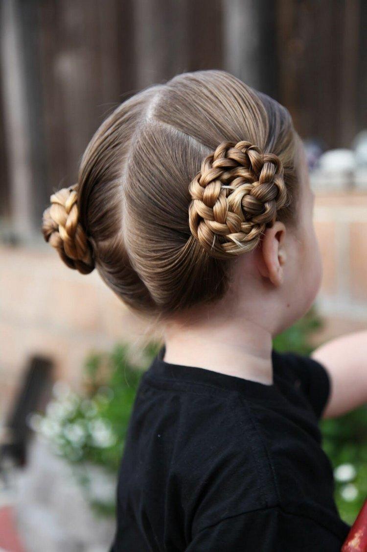 Косички на средние волосы детям